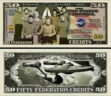 STAR TREK 50th Anniversary Novelty Dollar with a Rigid Protector And 49 Shipping