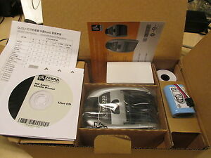 NEW Zebra MZ220 Portable Mobile Bluetooth Wireless Printer NEW M2F-0UB0E020-00