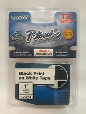"BROTHER P TOUCH TZ251 1"" WHITE LABELS"