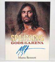 2012 Spartacus Gods of The Arena Manu Bennett Crixus Signed Auto Autograph Card