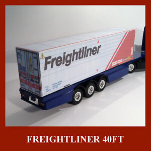 Freightliner Shipping Container Card Kits 40ft x 4 OO Gauge Buy Now & 20ft FREE
