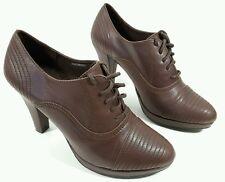 clarks damen braun leder heels kaum getragen uk 5.5