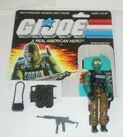 1986 GI Joe Beach Head v1 Army Ranger Figure +1/2 File Card Back *Complete READ*
