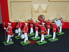 Britains 7305 Navy US Marine Corps DRUM Bugle TEAM METAL Toy Soldier Figure Set