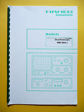 OPERATING INSTRUCTIONS pour HAMEG 604-2, original