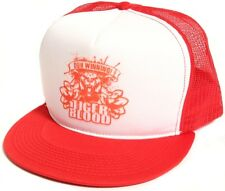 New Retro Winning Tiger Blood Red Hat Cap Charlie Sheen Truckers Snapback