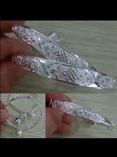 1 x BABY SILVER BANGLE BRACELET ADJUSTABLE BOY GIRL 0-6 YEARS birthday GIFT +BAG