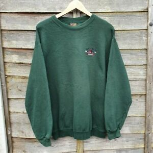 Vintage Ivy Crew Jeanswear Spellout Embroidered Sweatshirt From USA