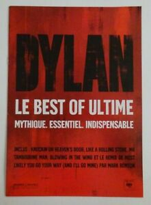 BOB DYLAN : LE BEST OF ULTIME (A4) ▓ FRENCH PROMO BOOKLET ▓