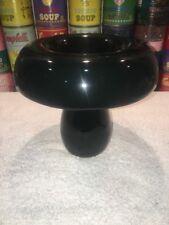 A black KARIM RASHID UFO VASE for Mikasa KRA02 - 2004 - sleek modern style