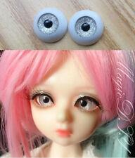 12mm Hand Made BJD Doll Eyes Silver Sand Acrylic Half Ball