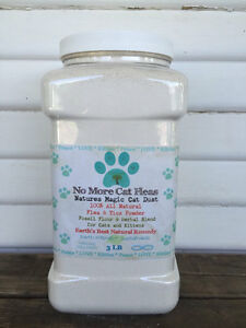 Natural 3 lb Flea Control for Cats & Kittens Diatomaceous Earth Herbal Powder