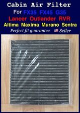 Carbonized Cabin Air Filter For Outlander Lancer Altima Maxima FX35 FX45 G35