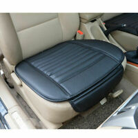 Black Car Front Seat Cover Breathable PU Leather Pad Mat for Auto Chair Cushion