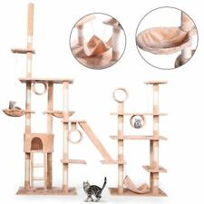 """103"""" Large Pet Cat Tree Castle Play House Tower Condo Bed Scratching Post Beige"""