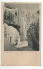 CANADA carte postale ancienne NIAGARA FALLS Cave of the winds in winter
