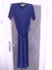 Dunkelblaues Plisseekleid (Damen) Größe 36 von Together mit Gürtel