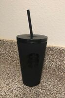 NEW Starbucks Matte Black Tumbler Cold Cup 16 oz Grande Holiday 2020 Fast Ship