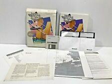 Vintage Microsoft Flight Simulator Version 3.0 - Factory Packaging 3 Discs Tandy