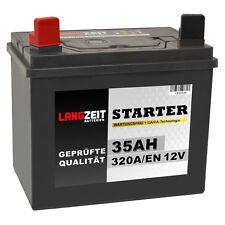 Rasentraktor Batterie 35Ah 12V Starterbatterie Aufsitzmäher + Plus Pol Links