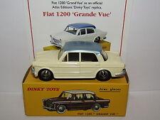 ATLAS DINKY TOYS FIAT 1200 GRANDE VUE IVORY/BLUE 531 MODEL CAR