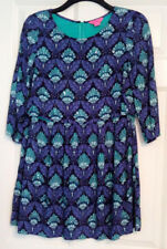 Monsoon Fusion Ladies 3/4 Sleeve Floral Beaded Tunic Style Dress UK Size 12