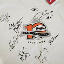 WNBA 10th Anniversary Signed Shirt Sheryl Swoopes Lisa Leslie Autographed