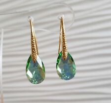 Crystal earrings Drop Earrings Genuine Swarovski element Green