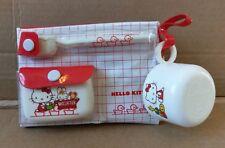Vintage 1976 SANRIO Hello Kitty Wash Up Kit Set Towel Toothbrush Japan RARE HTF
