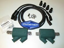 Honda CB550 Four Dyna Performance Ignition Coils and Black Dyna Leads.