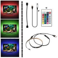 LED Strip Light USB RGB Multi Color TV Backlight Lighting with Remote 50cm 5V UK