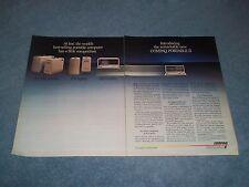 1986 Compaq Portable II Computer Vintage 2pg Ad