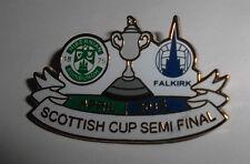 FALKIRK FC VS HIBERNIAN FC BADGE SCOTTISH CUP SEMI FINAL 2015