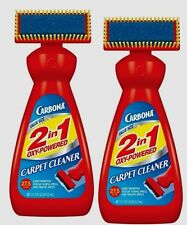 *2* Carbona 2 in 1 Oxy Powered Liquid Carpet Cleaner w/ Brush Pet Stains 27.5oz