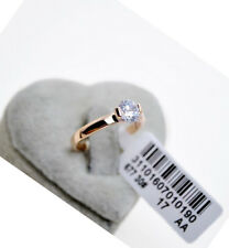 100% Brand New Genuine 18K Rose Gold 1.25 ct Engagement Eternity Ring size 8-9