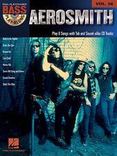 Aerosmith Bass Play Along 8 Songs! Tab Book Cd NEW!