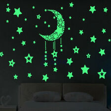 A Moon&Stars Glow In The Dark Home Vinyl Wall Stickers For Baby Kid Nursery Room