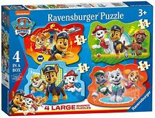 Ravensburger PAW PATROL 4 LARGE SHAPED JIGSAW PUZZLES Toys Games BN