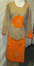 new design beautiful  embroidery silk whit l cotton  salwar kameez Size 2 XL 46