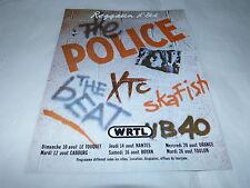 THE POLICE - Publicité de magazine / Advert !!! REGGATTA D'ETE !!!