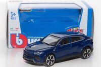 Lamborghini Urus in dk blue, Bburago 18-30392, scale 1:43, toy gift model boy