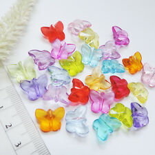 SCHMETTERLING ** 25 Stk ** 12x14mm ** BUNT mix ** Perle Spacer Acryl transparent