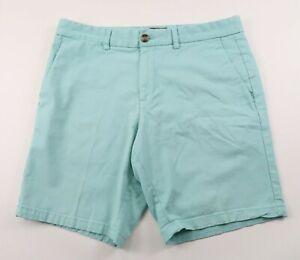 Black Brown 1826 Mens Stretch Light Blue Khaki Chino Shorts Tag 33 Measured 34
