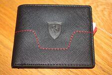 Brand New Puma Ferrari LS BiFold Wallet in Black 074209-01 SHIP FREE US FAST