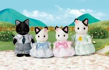 *New* Sylvanian Families 5181 Tuxedo Cat Family - set of 4 - Adults 8cm