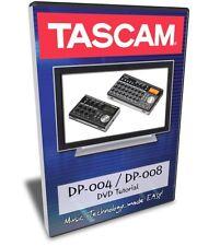 Tascam DP-004 / DP-006 / DP-008 DVD Video Training Tutorial Help