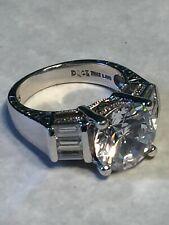 Sterling Diamonique CZ 5ct Ring - Size 7