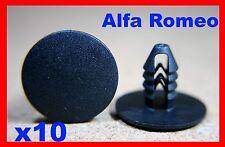 10 Alfa romeo door card fascia trim panel push type fastener clips