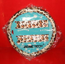 Zone Tech Animal Print Steering Wheel Cover and Shoulder Pad - Leopard