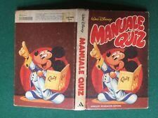 Walt DISNEY - MANUALE QUIZ Mondadori (1984) G. Cappelli